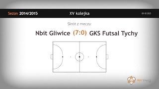 Nbit Gliwice vs GKS Futsal Tychy (15 kolejka) - skrót