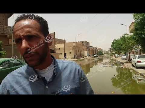 أهالي المهدية يعربون عن معاناتهم من طفح مياه الصرف الصحي