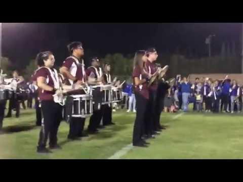 Bishop Alemany Drumline battle 2016 vs. Bishop Amat High School