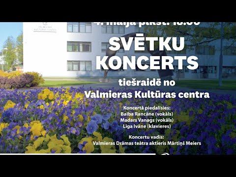 Svētku koncerta tiešraide no Valmieras Kultūras centra