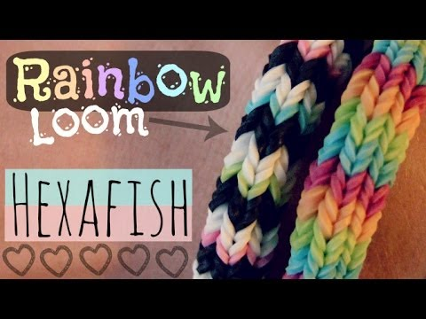 Rainbow Loom : HEXAFISH Bracelet – How To – 6-Pin Fishtail – Advanced