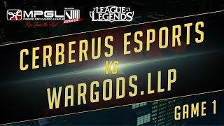 Cerberus vs Wardogs, game 1