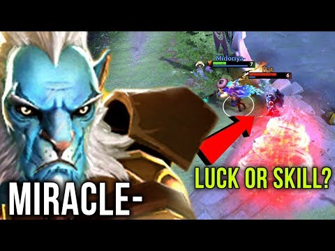 Miracle- EPIC Phantom Lancer Carry Solo Mid - Luck or Skill? - Dota 2