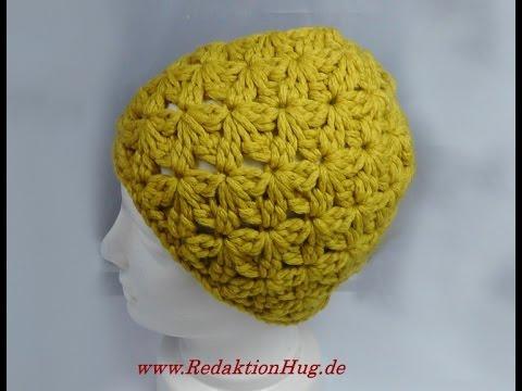 Häkeln – Mütze im kleinen Blütenmuster – Veronika Hug
