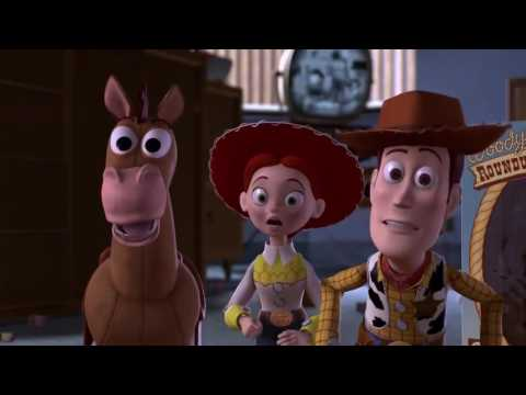 Toy story 2 Woody tries to leave