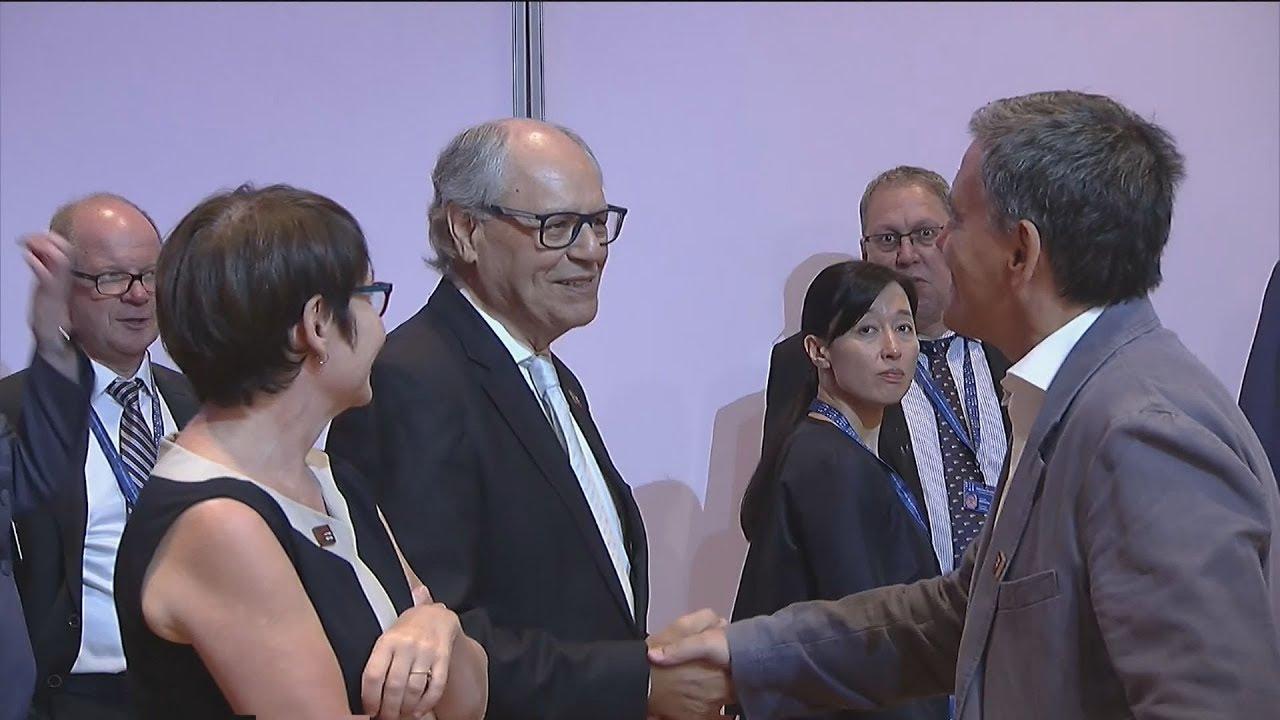 Εσωτερικά πλάνα από την συνεδρίαση του Εurogroup στην Βιέννη