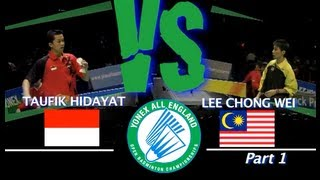 Video All England Lee Chong Wei vs Taufik Hidayat 2008 Part 1 MP3, 3GP, MP4, WEBM, AVI, FLV Februari 2018