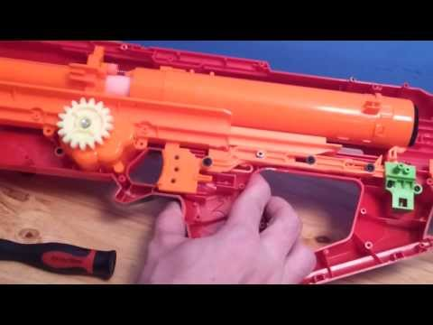 nerf mods - Simple mods for the Complicated new Blaster. The Mega Centurion is no marksman blaster, but it packs quite a punch, and carries a unique firing mechanism! Fa...
