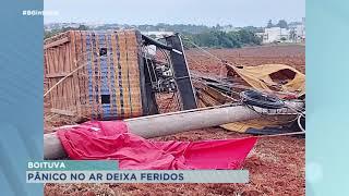 Rajada de vento causa acidente com balões e deixa 4 feridos em Boituva