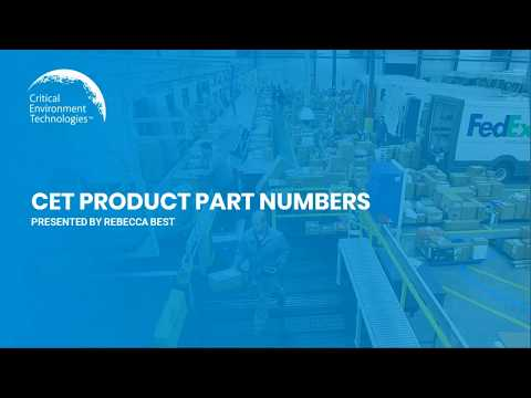 CET Part Numbers Presentation