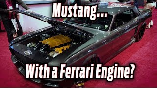 Mustang with a Ferrari Engine - Corruptt Mustang by Hot Rod Magazine