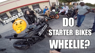 8. Yamaha R3 Test Ride - Will it Wheelie?