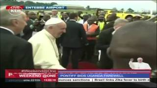 Pope Francis leaves Uganda for Central African Republic