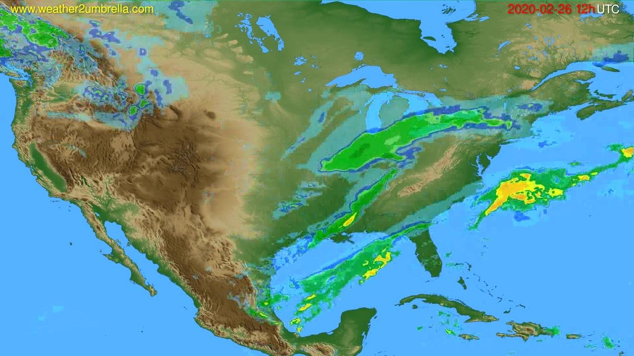 Radar forecast USA & Canada // modelrun: 00h UTC 2020-02-26