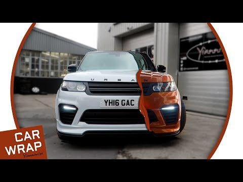 Urban Automotive Range Rover SVR wrapped Liquid Copper