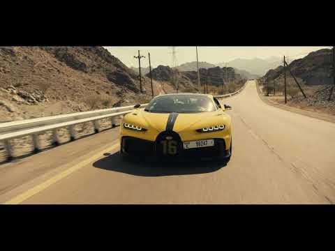 Bugatti Chiron Pur Sport racing at UAE mountains