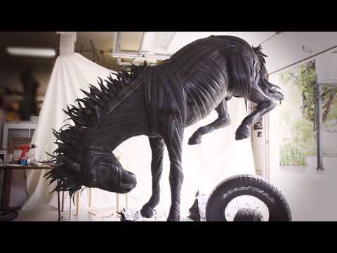 Awesome Sculptures Made with Tires