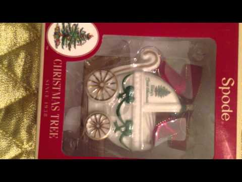 Spode Christmas Tree Baby's First Christmas Ornament Baby Carriage