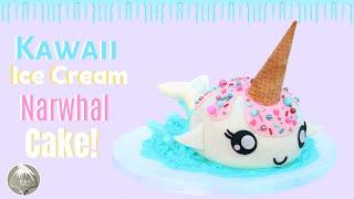 Kawaii Ice Cream Narwhal Cake | Step by step Cake tutorial | Thalias cakes