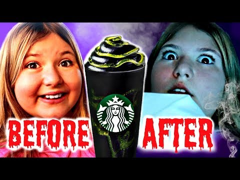 DON'T TRY THE PHANTOM FRAPPUCCINO FROM STARBUCKS! ~ Halloween Skit