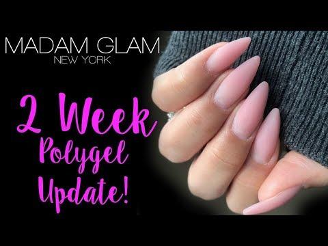 Gel nails - MADAM GLAM POLYGEL UPDATE \\ PART 2 \\ GEL/ACRYLIC HYBRID SCULPTED NAILS