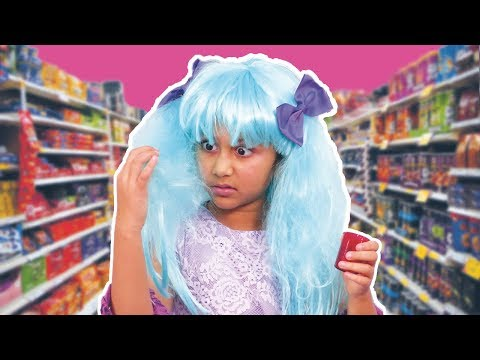 Shopping for School  Hair Color Prank And More !  Princesses In Real Life  Kiddyzuzaa