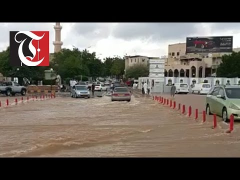 Heavy rains cause flooding in Nizwa and surrounding areas