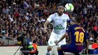 Curta - https://www.fb.com/OsGolsHDSiga - https://twitter.com/OsGolsHDBarcelona 5 x 0 Chapecoense 2017Olha só o Chapeu de Apodi em Jordi Alba, Barcelona 5 x 0 Chapecoense - Joan Gamper 07/08/2017 [HD]