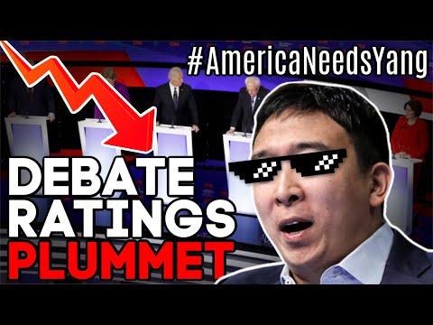 Debate Ratings PLUMMET as #AmericaNeedsYang TRENDS WORLDWIDE!