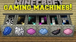 Minecraft: GAMING MACHINES!!! (MEMORY, MINESWEEPER, POKER, & MORE!) Mod Showcase