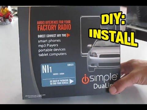 Installing Aux, iPOD Input Jack – Nissan Altima 05-06 SE, SE-R, SL, S (ISNI531, aPAC-NIS1, NIS2)