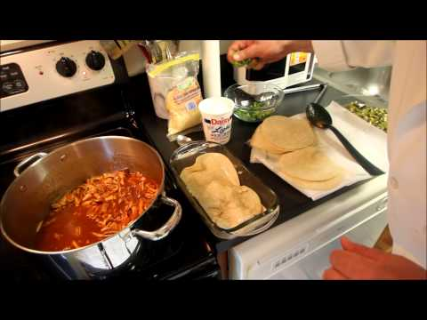Mexican Recipe: How to Make a Mexican Chicken Enchilada Tortilla Lasagne Torte – Lasagna