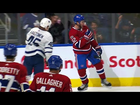 Video: Drouin splits defence, beats McElhinney with a backhand
