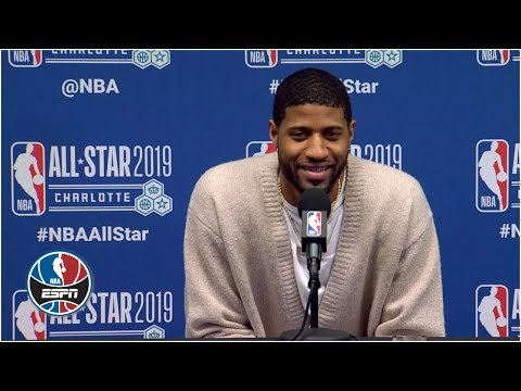 Video: Paul George jokes about stepback over James Harden, 'Hit him with his s---' | NBA All-Star 2019