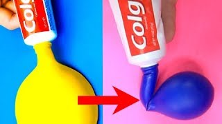 Video Trying 17 AMAZING LIFE HACKS WITH BALLOONS by 5 Minute Crafts MP3, 3GP, MP4, WEBM, AVI, FLV Desember 2018