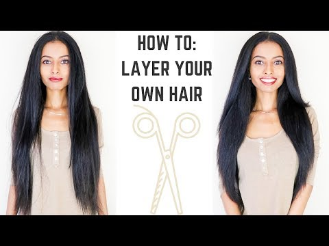 Hair cutting - HOW TO: Cut Layers in Long Hair  EASY DIY Tutorial  KayNaturals