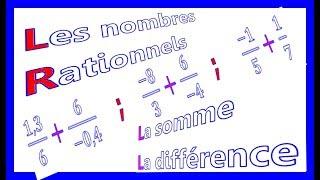 Maths 3ème - Les nombres rationnels Addition et Soustraction Exercice 31