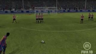 Adebayor Free-kick For Barcelona.