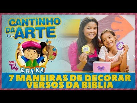 7 maneiras de decorar versos da Bíblia | Cantinho da Criança com a Tia Érika