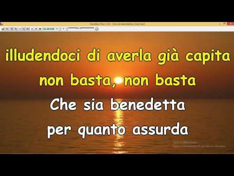 , title : 'Che sia benedetta - F Mannoia (live Sanremo 2017 ) solo testo'