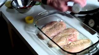 Simple delicious baked chicken breast which the whole family will love! Part 1: Baking instructions and ingredients!