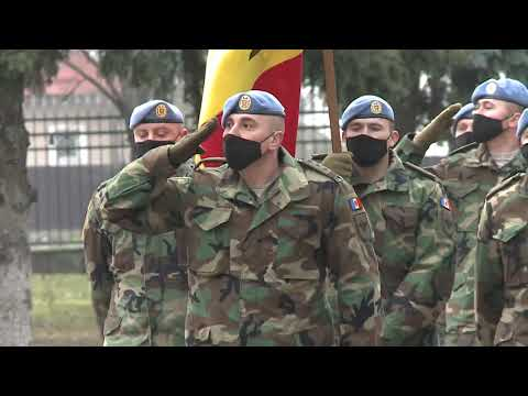 Președintele Republicii Moldova, Maia Sandu, a participat la ceremonia de detașare a contingentului Armatei Naționale în misiunea KFOR din Kosovo