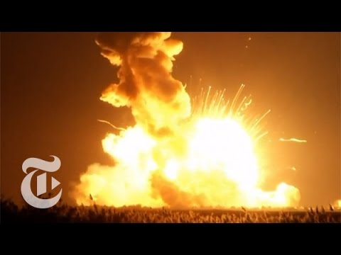 NEW - An Antares rocket, carrying an unmanned spacecraft for NASA, exploded shortly after launch. Produced by: Associated Press Subscribe to the Times Video newsletter for free and get a handpicked...