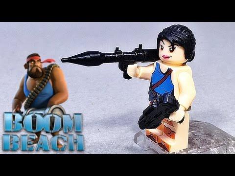 sy 붐비치 바주카포병 파괴적인 여전사 레고 짝퉁 미니피겨 Lego knockoff Boom Beach game Zooka KNOCKOUT ARTIST minifigure