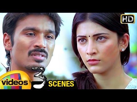 Shruti Haasan Argues with Dhanush about Marriage | 3 Telugu Movie Scenes | Sivakarthikeyan | Anirudh