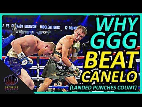 Why Gennady GGG Golovkin Beat Canelo Alvarez (Landed Punches Count) #CaneloGGG (видео)
