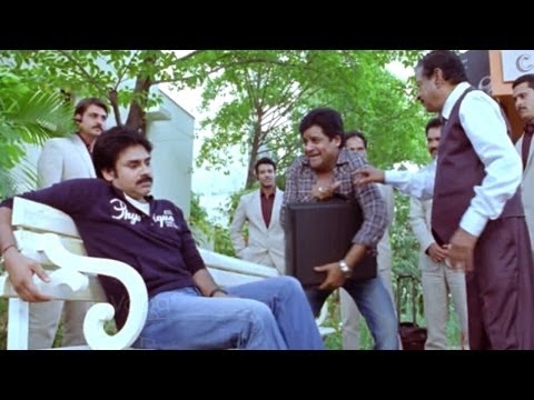 Attarintiki Daredi Comedy Scenes   Ali Order To Pawan Kalyan For Cigarette