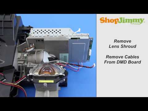 Mitsubishi DLP TV Chip Repair - How to Remove DLP DMD Chip From Light Engine Black & White Dots Fix