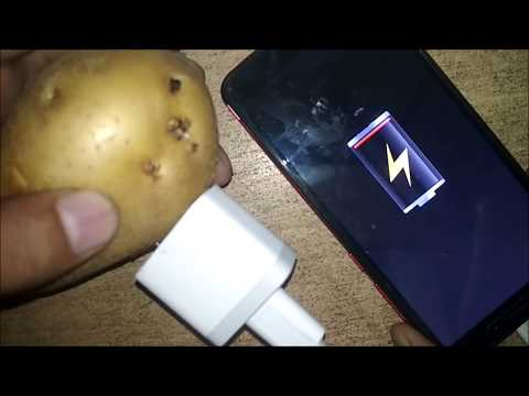 How to make mobile charger without electricity|| Potato Charger ||