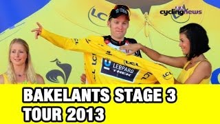 Jan Bakelants - Yellow After Stage 3:  Tour De France 2013